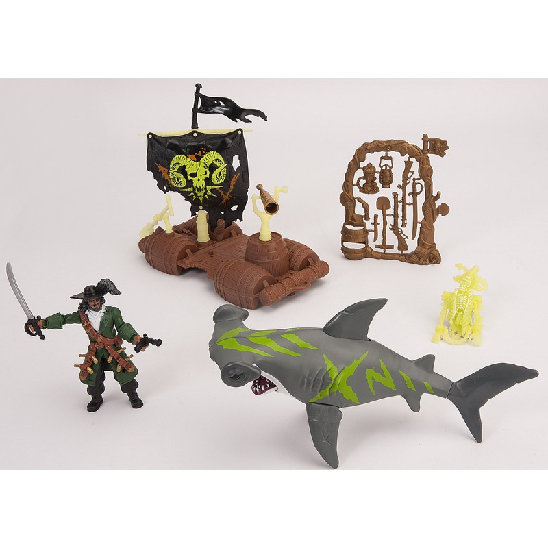 Figuras Figura De El Caribe Juguete Piratas Decoración Barco 18 Chap Tiburón Mei Pirata 1 N80nwm