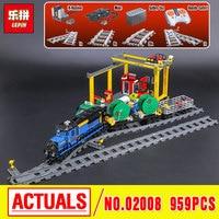 Lepin 02008 The Cargo Train Set Genuine 959Pcs City Series Building Blocks Bricks Educational Christmas Gift