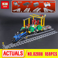Lepin 02008 The Cargo Train Set Genuine 959Pcs City Series Building Blocks Bricks Educational Christmas Gift