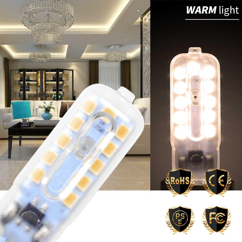 Led Bulb 220V Mini G9 3W 5W Led Corn Lamps 14 22leds Replace Halogen Lamp 30W 50W G9 Energy Saving Modern Led Lights Living Room