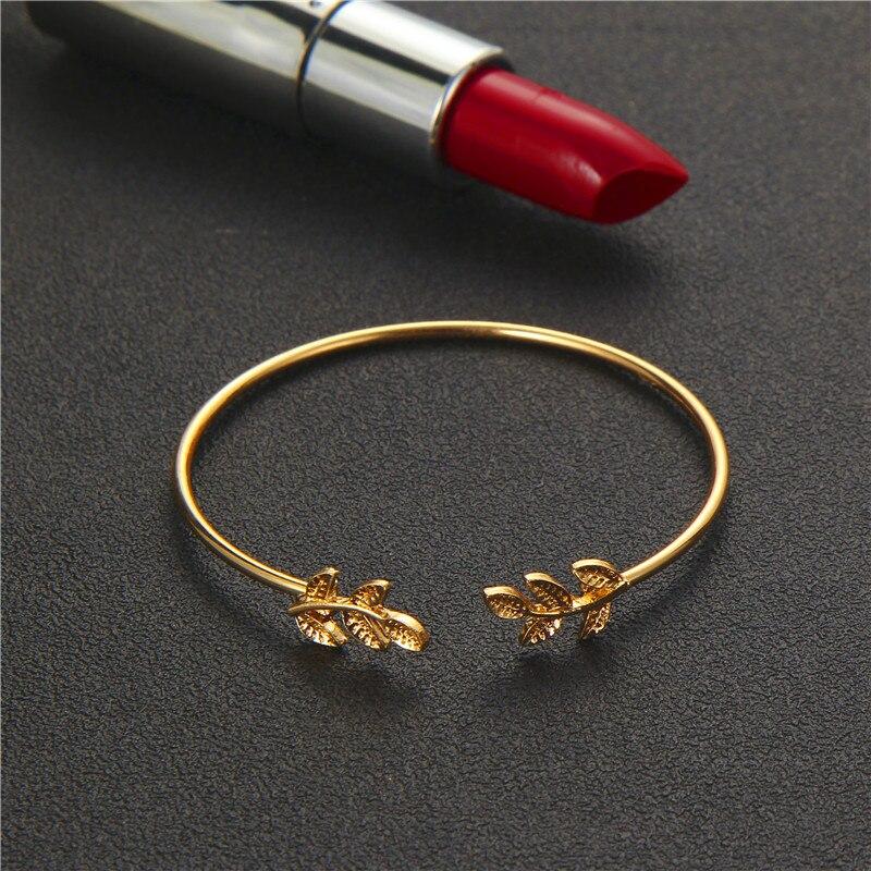 docona 4pcs/1set Punk Bracelet Simple Geometric Leaf Knot Metal Chain Bracelet Bohemian Retro Bracelet Jewelry Accessories 6115 5