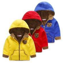 New Arrival DISCOUNT child outerwear wadded jacket 2017 winter cotton-padded child boys girls cartoon fleece zipper sweater