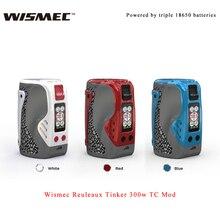 100% Original Wismec Reuleaux Tinker 300w TC Mod Electronic cigarette vape box mod VW/TC-Ni/TC-Ti/TC-SS/TCR mode e-cig vs drag 2