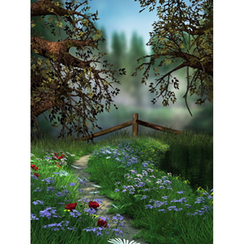 Fairytale Computer-painted Scenic Photography Background Photo Studio Backdrop 5X7ft   F-1626 joseph