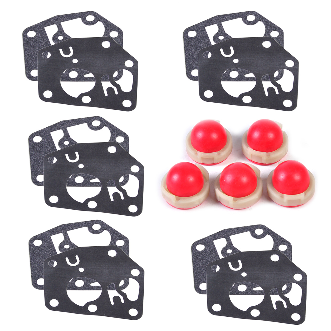 LETAOSK 5 x Primer Bulb + Diaphragm Gasket fit for <font><b>Briggs</b></font> & Stratton 694394 494408 <font><b>795083</b></font> 495770Accessories image