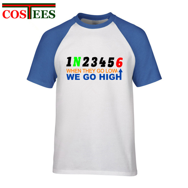 b8e1d4f4c4a Funny Michelle Obama WHEN THEY GO LOW WE GO HIGH 1N23456 Motorcycle T shirt  men MotoGP Tour de France shirt fitness crossfit Tee