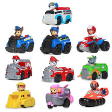 Paw Patrol Dog Puppy Patrol Car Patrulla Canina Toys Action Figures Model Toy Chase Marshall Ryder Rubble Vehicle Car Kids Toy paw patrol машина спасателя chase