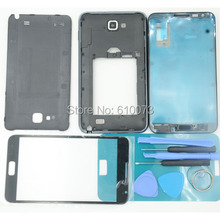 Replacement Full Housing Case Cover+Screen Glass Lens + Buttons For Samsung Galaxy Note 1 N7000 Front Housing Frame Bezel