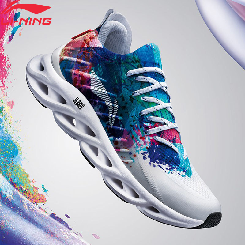 Li-Ning Women LN ARC Cushion Running Shoes Breathable Sneakers Mono Yarn LiNing Li Ning Wearable Sport Shoes ARHP108 XYP936