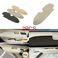 Pair Left Right Real Leather Car Front Door Panels Armrest Covers For Honda CRV 2007 2011