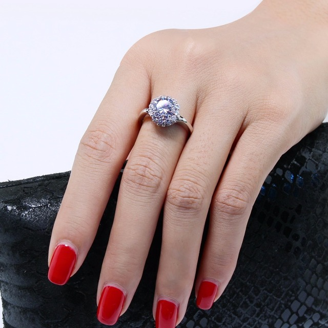 POPOKi Romantic Thin Wedding Jewelry Engagement ring NEW