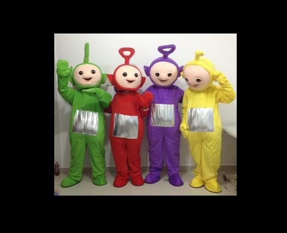 Di vendita caldo di Età carino Rosso Teletubbies Costume della mascotte di Teletubbies vestito abiti da festa