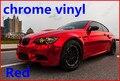 1 pc 1.52*0.5 M Red chrome vinil cromo envoltório carro filme de vinil cromo galvaniza vinil cromo autocolante com bolha livre FREESHIPPING TTT
