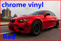 1 pc 1.52*0.5M Red chrome vinyl chrome car wrap electroplate vinyl film chrome car sticker with bubble free FREESHIPPING TTT