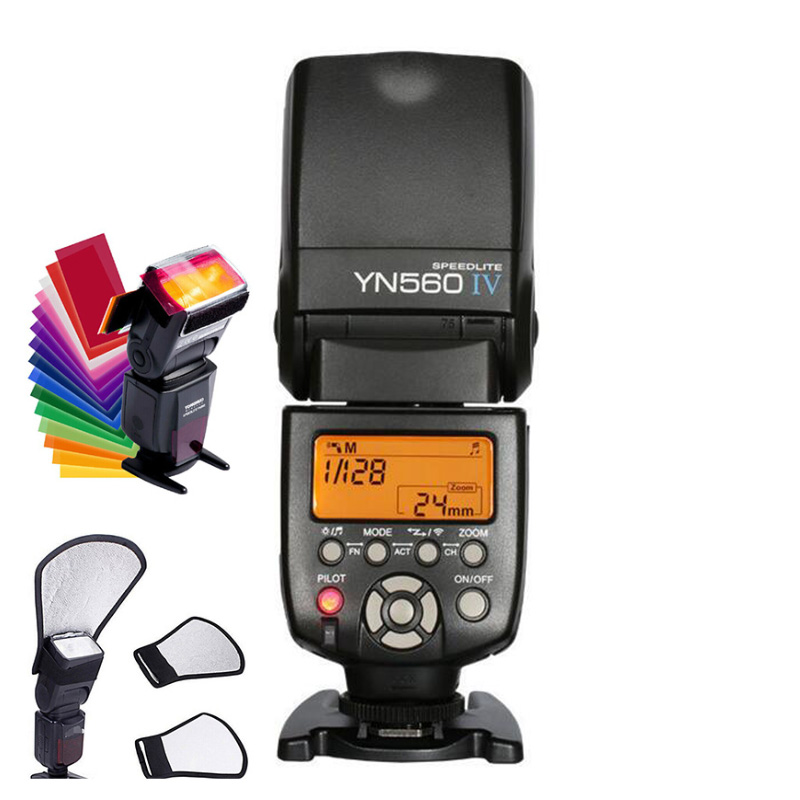Yongnuo YN-560 IV Flash Speedlites 2.4GHZ master wireless trigger flash light for Canon Nikon 500d 600d 700d d5100 DSLR Cameras original yongnuo yn560 iv yn 560 iv master radio flash speedlite rf 605 wireless trigger for canon 1000d 650d 600d 550d dslr