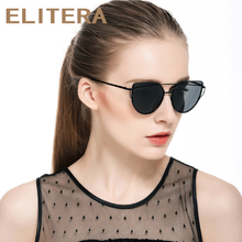 ELITERA 2017 Fashion Designer Luxury Cat Eye Sunglasses Women Sun Glasses Brand Alloy Frame Polarized Lenses Gafas Oculos De Sol