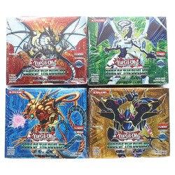 Yugioh cartões 216 pçs conjunto com caixa yu gi oh anime jogo coleção cartões brinquedos para crianças meninos brinquedo