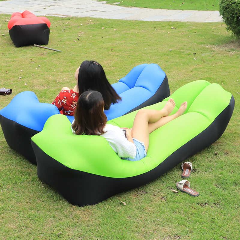 2019 Novo sofá preguiçoso saco de dormir Ao Ar Livre portátil dobrável rápido saco Adultos Crianças Beach Lounge sofá de ar inflável blow- up lilo cama