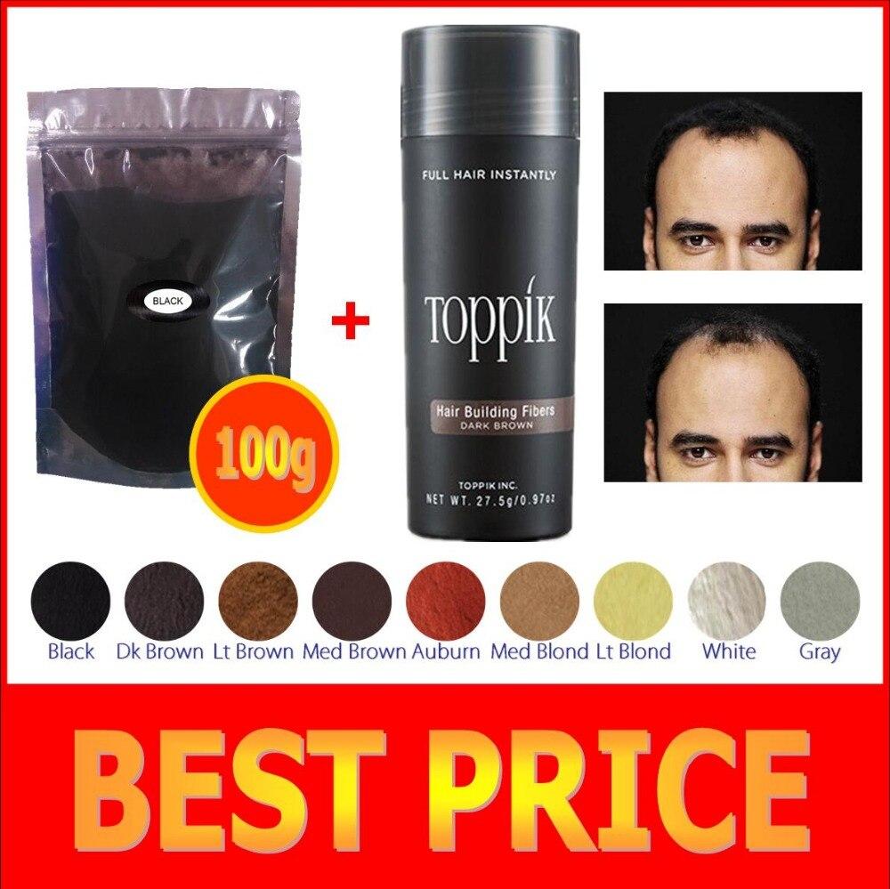 100g+ 27.5g bottle 9 colorsFiber Hair Fiber Keratin Building Fibers Thickening Spray Toppik Hair Fiber Instant Wig Regrowth