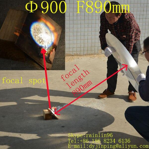 solar Focal length 890mm Diameter 900mm big size fresnel lens solar energy , outside solar cooker