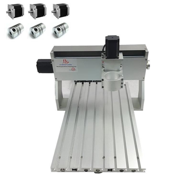 Máquina de Gravura do CNC Router madeira DIY Quadro Adequado 3040 65 0.8KW 500W fixação Do Eixo mm
