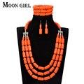 6 cores beads africanos conjunto de jóias de casamento nigéria nupcial choker declaração de 2017 moda maxi colar set para as mulheres