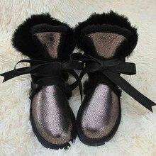 TIIDA 2016 Top Quality Fashion Women Snow Boots Genuine Sheepskin Leather Winter Boots 100% Natural Fur Warm Wool Women Boots