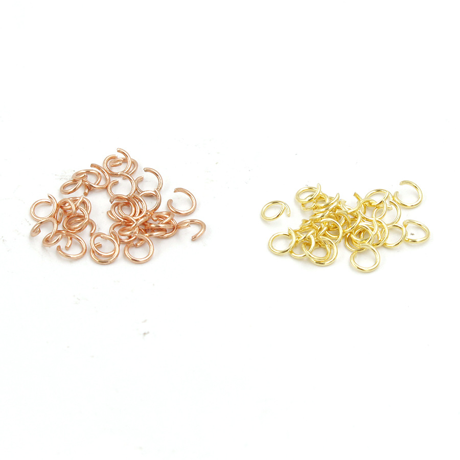 100pcs lot Stainless Steel Open Jump Rings Gold Rose Gold Color 0 6x4mm Split Rings Connectors for DIY Necklace Jewelry Making in Jewelry Findings Components from Jewelry Accessories