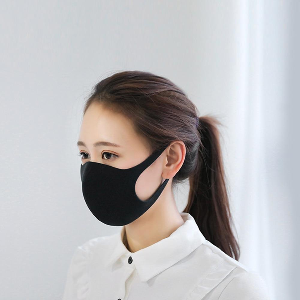 De Algodón Pm2.5 Anti Niebla Máscara De Respiración Válvula Anti-polvo De La Máscara De La Boca De Filtro De Carbono Activado Respirador Boca Mufla Negro Máscara De Cara GarantíA 100%