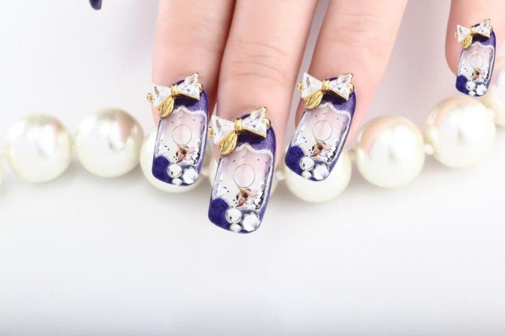 Fresh nail art 3D Manicure Nails Art French Acrylic Aquarium Liquid ...