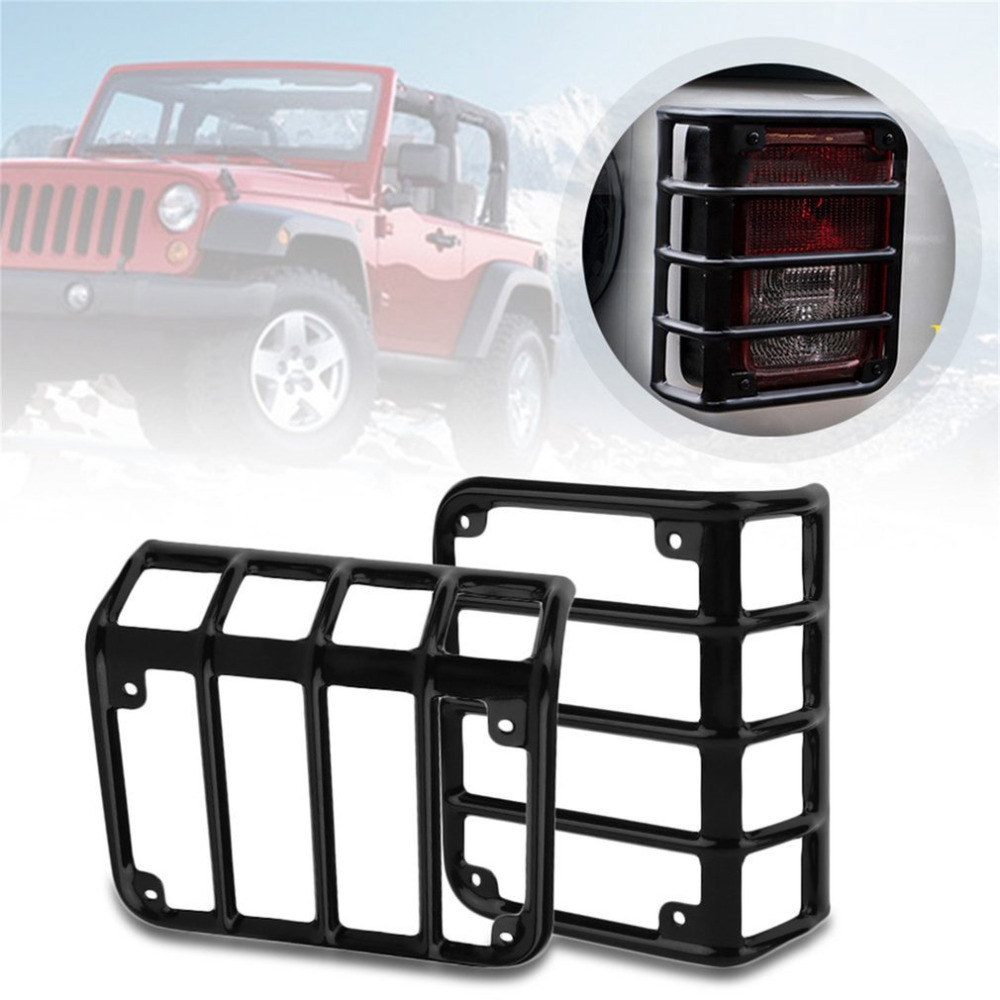 Hot selling Auto Car Tail Light Rear Lamp Cover Guards Protecting Lights For Jeep For Wrangler Car Accessories