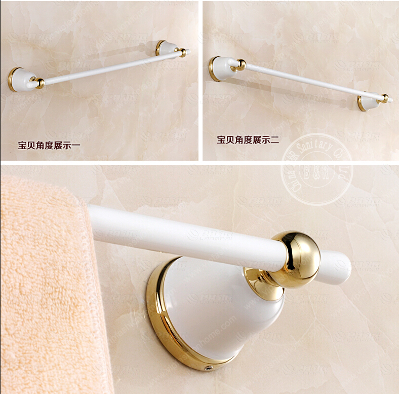 Becola White Bath Towel Bar Bathroom Rod Single Blue And Porcelain European Past Style In Bars From Home