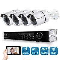 SUNCHAN Security Camera System 8CH CCTV System 4 X 1080P SONY Outdoor Waterproof Surveillance System Camaras