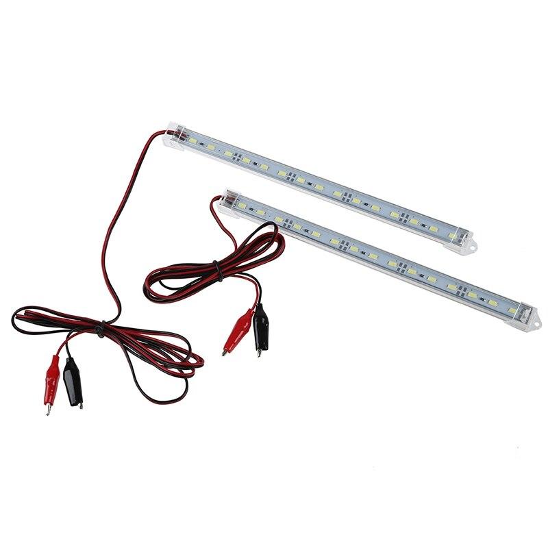 2pc 12V Car 15 LED 5630 SMD Interior Light Strip Lamp Bar Van Caravan Fish Tank