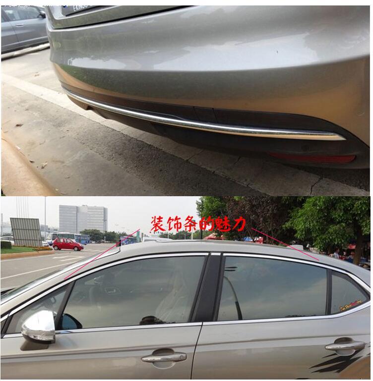 ATMOMO 8mm Silver Soft PVC Chrome DIY Moulding Line Car Decorating Line Trim Strip