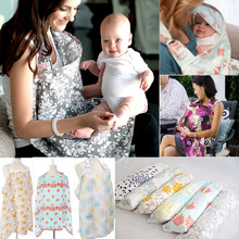 Baby Infant Nursing Cover Breastfeeding Cover Multifunctional Cotton Muslin Cloth Nursing Scarf Mother Outdoors Feeding Apron