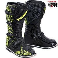 Men size 6 13 Waterproof Plus Size Microfiber leather stivali moto enduro MId calf Male Shoes moto Ktm Motorcycle boots Shoes