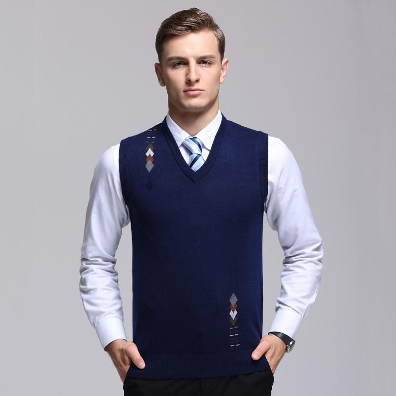2019 Neue Mode Marke Pullover Herren Pullover Weste Slim Fit Jumper Stricken Jacquard Winter Koreanischen Stil Casual Kleidung Männer