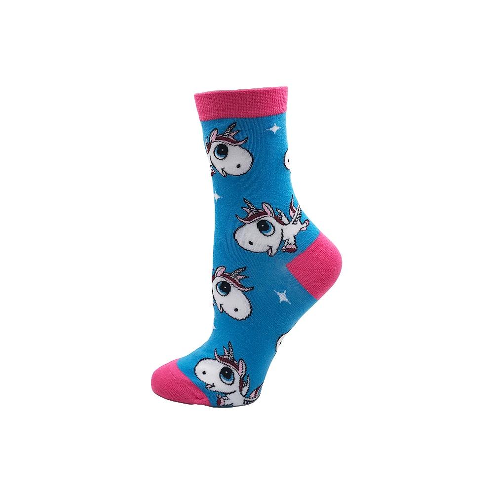 Cute Fashion Soft Novelty Cotton Women Socks Unicorn Duck Alien Dinosaur Colorful Cartoon Happy Kawaii Funny Socks For Girl Gift