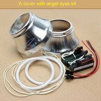 2 Pcs A Decorative Cover Integrated Aluminum MASK With Angel Eyes OF PROJECTOR LENS SHROUD For