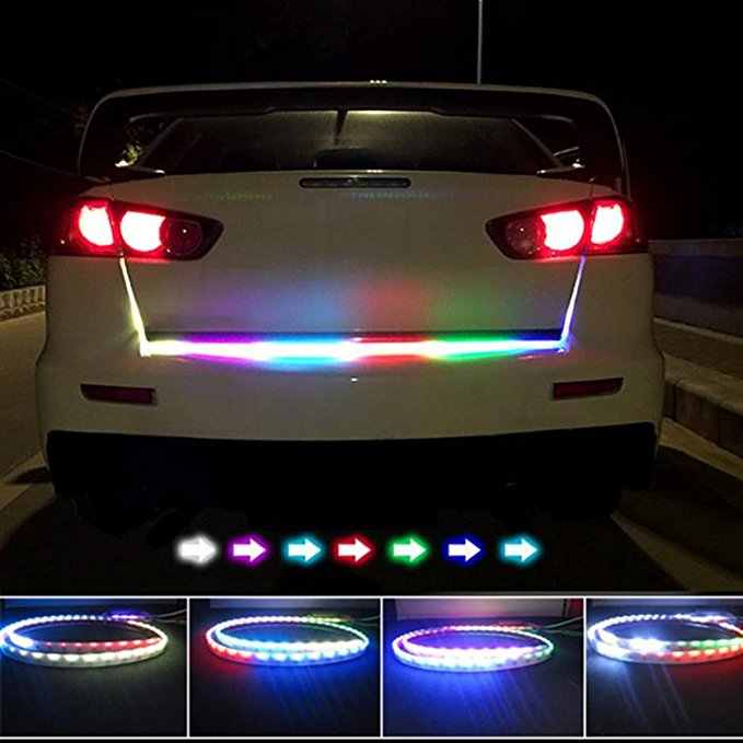 Mobil Styling RGB Undercarriage Floating LED Dinamis Streamer Sein Ekor LED Lampu Bagasi Lampu 12 V