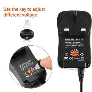Image 3 - 30W US/UK/AU/EU Universal Power Adapter 3V 4.5V 5V 6V 7.5V 9V 12V AC DC Charger Converter + 5V 2.1A USB Port With 8Pcs jack