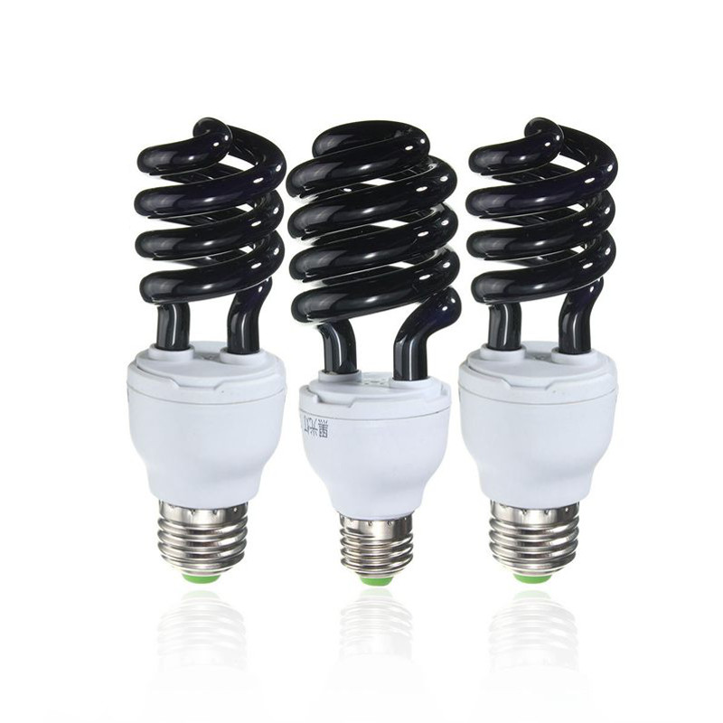 Hot Sale E27 15 20 30w Spiral Enegy Saving Uv Ultraviolet Fluorescent Black Light Cfl Light Bulb
