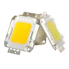 10/20/30/50/70/100 Вт AC/DC 12V 36V COB светодиодный чип лампа Chips для Точечный светильник потолочные светильник сада квадратный встроенный светильник светодиодный бусины