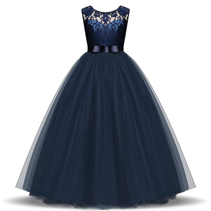 Girls Lace Wedding Dress Girl Party Wear Princess Dress Birthday Evening Prom Gown Teenage Girl Kids Clothes Children's Clothing girls ball gown lace flowers girl white dress for prom princess dresses for wedding birthday party kids clothes floral evening