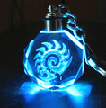 """"" Zerg Logo Crystal Keychain Keyring LED Light Toy New in Box"
