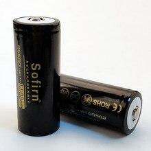 Sofirn batterie 26650, Rechargeable 5500mAh, batterie au Lithium, 3.7V, grande capacité, pile Li ion, bouton supérieur