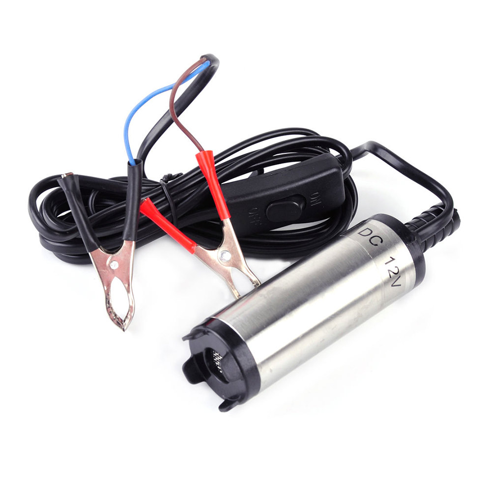 Stainless Steel Submersible DC 12V With Clip Pump 38mm Fuel Water Oil 12L Per Minute --M25