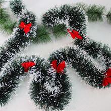 180cm christmas decoration bar tops ribbon garland christmas tree ornaments green cane tinsel party supplies - Christmas Tree Prices