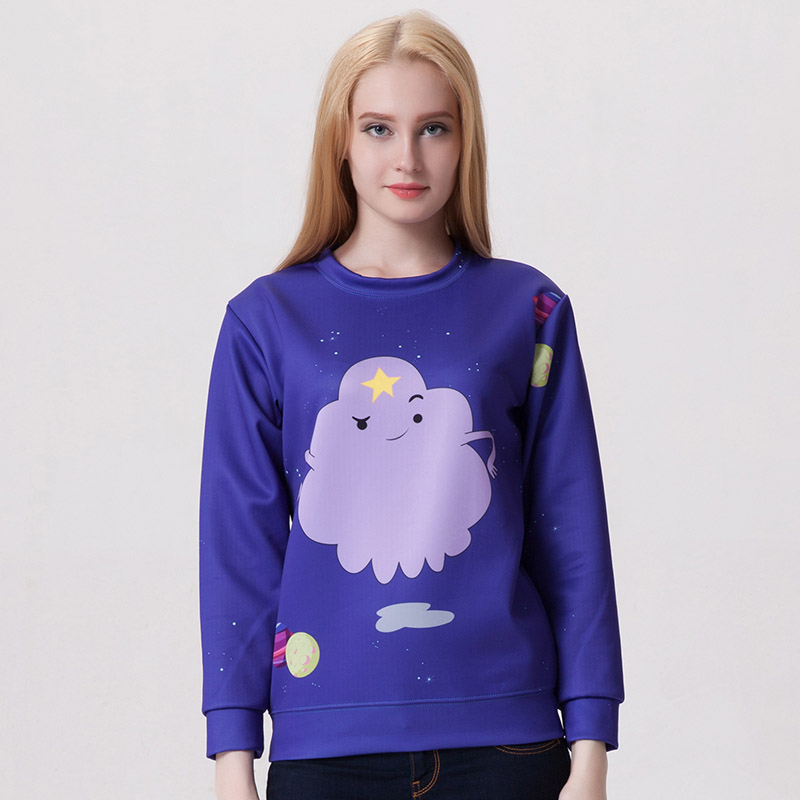 New Arrival 0002 Women Girl Adventure Time Lumpy Space Princess 3D Prints Walking Sweatshirt Suit Outside Workout Hoodies
